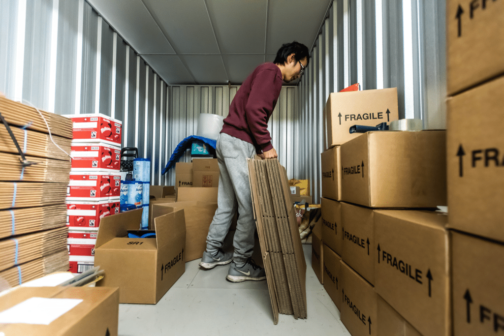 Safely storing belonging in a storage unit