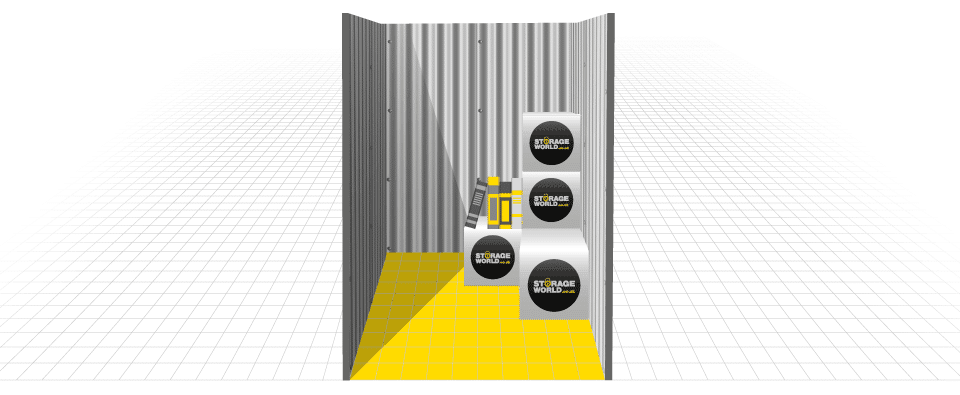 25 square foot storage container