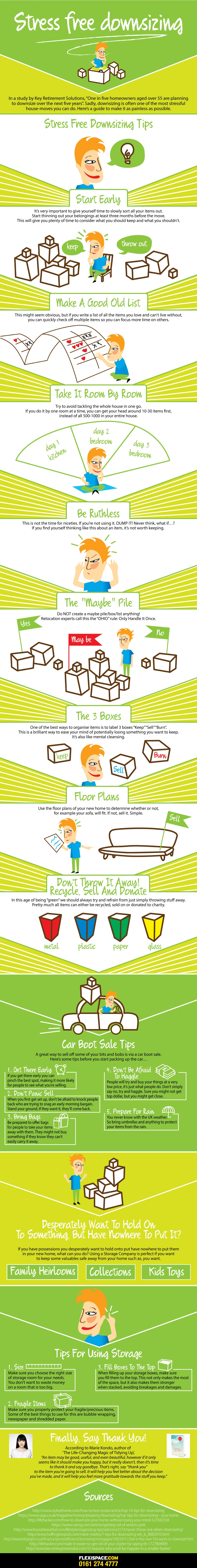 Downsizing your house with self storage infographic